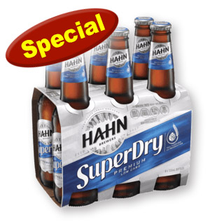 Hahns Super Dry: 6 Pack