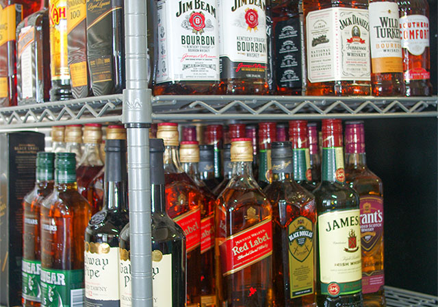 Alcohol supplies for purchase at the Club's Bottleshop